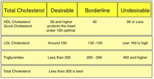 Cholesterol hdl ldl ratio graphic chart the good bad and ugly