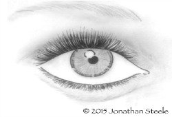 Eye: Pen and Ink by JonathanSteele-Artworks-Gallery.com