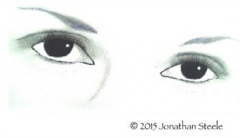 Eyes: Pen and Ink by JonathanSteele-Artworks-Gallery.com